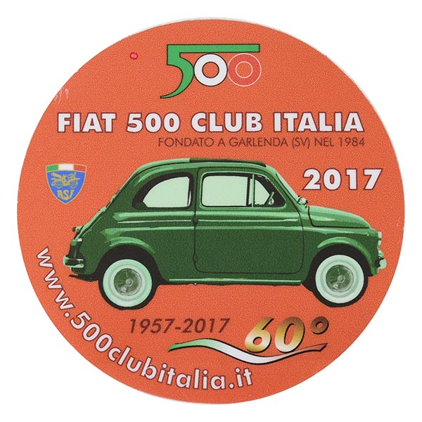 FIAT 500 CLUB ITALIA 2017 Sticker(Reverse Type)