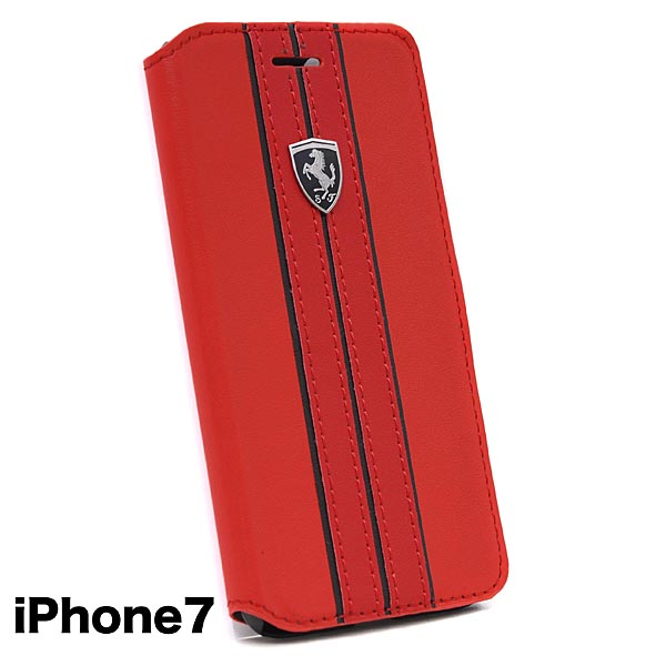 Ferrari iPhone7/6/6s Book Type Case-OFF TRACK/Red-