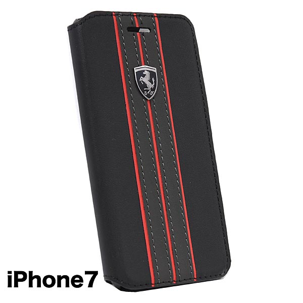 Ferrari iPhone7/6/6s Book Type Case-OFF TRACK/Black-