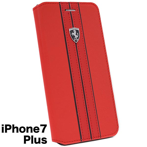 Ferrari iPhone7/6/6s Plus Book Type Case-OFF TRACK/Red-