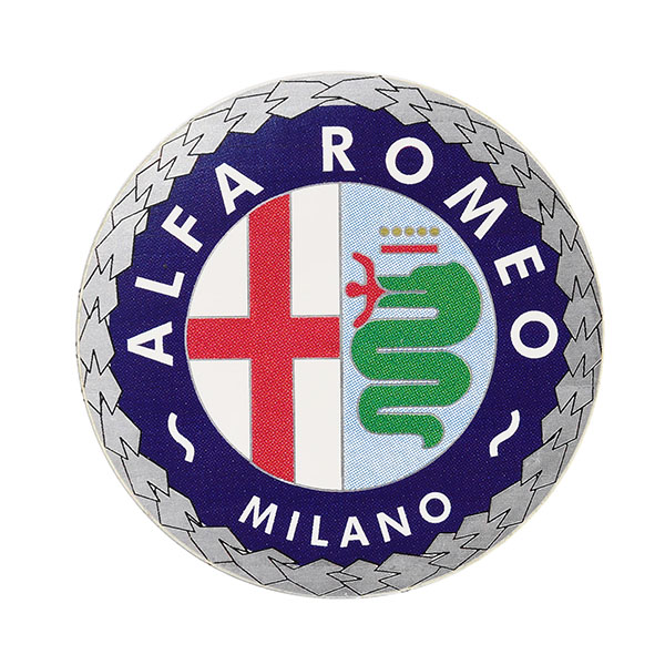 Alfa Romeo MILANO Emblem Shaped Sticker (51mm)