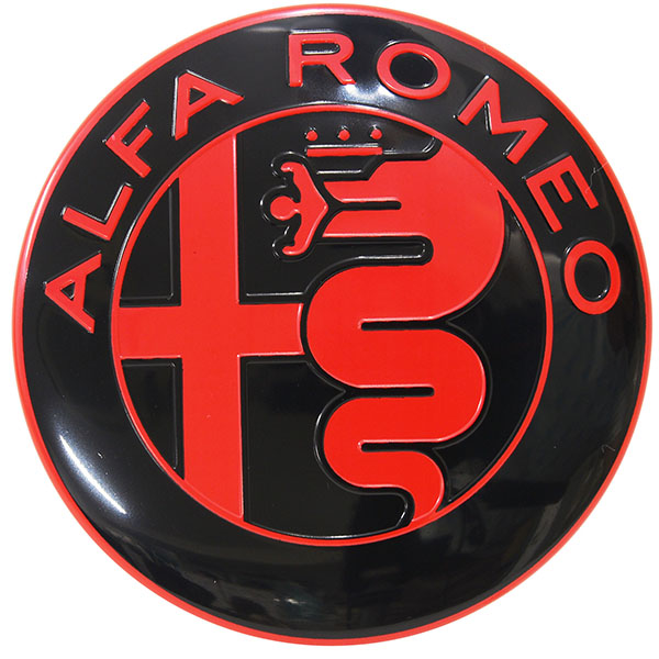 Alfa Romeo New Aluminium Emblem(Black/Red)