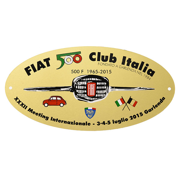FIAT 500 CLUB ITALIA 2015 Meeting Memorial Badge