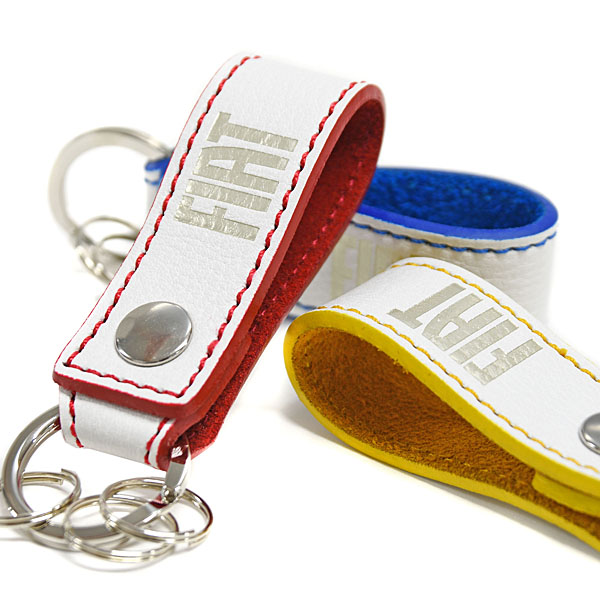 FIAT Leather Strap Keyring(Yellow)