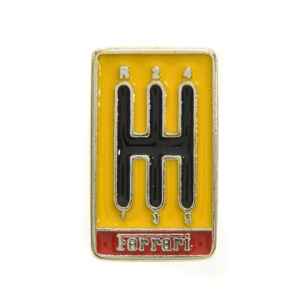 Ferrari Shift Gate Shaped Pin Badge