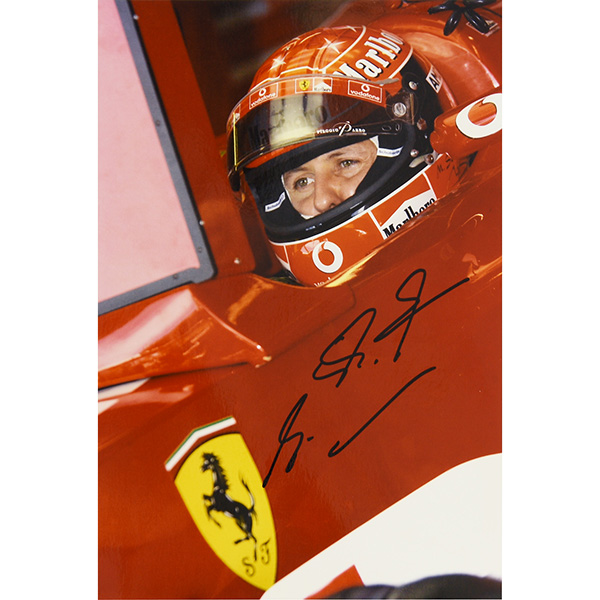 Scuderia Ferrari 2003 F1 World Champion Memorial Photo-M.Schumacher Signed-