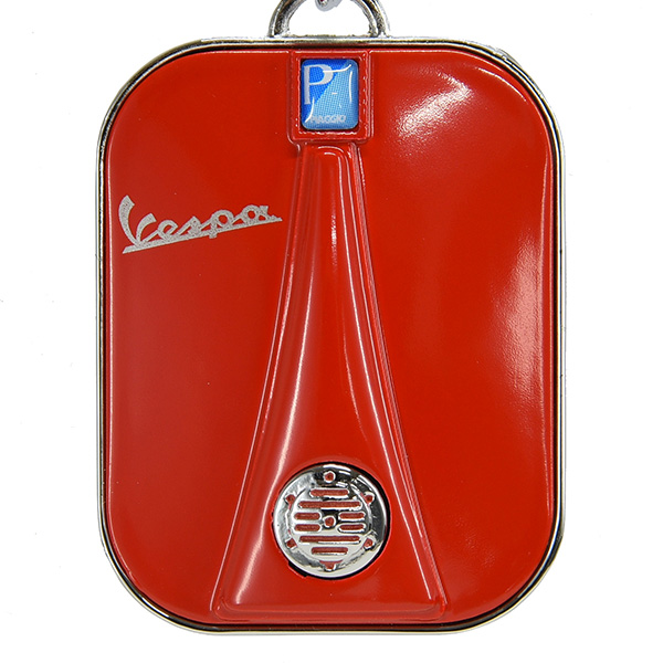 Vespa Official Front Cowl Shaped Keyring(Red)
