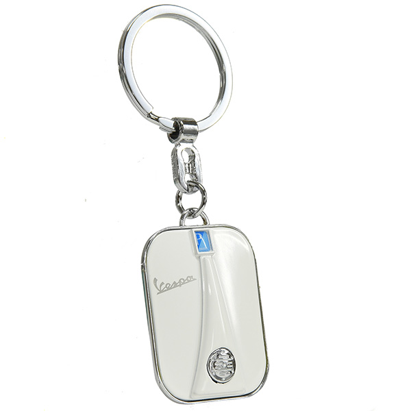 Vespa Official Front Cowl Shaped Keyring(White)