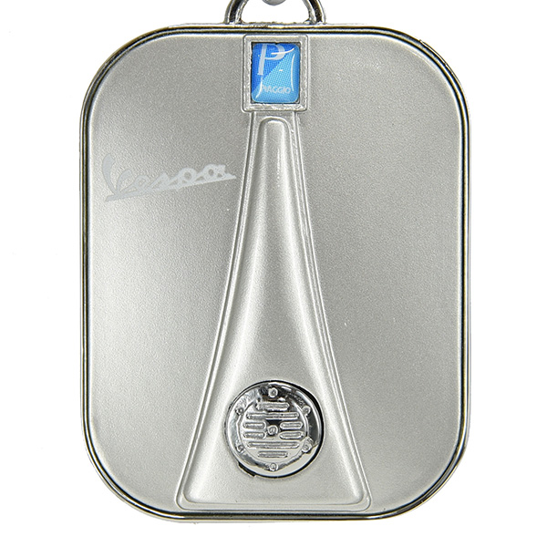 Vespa Official Front Cowl Shaped Keyring(Silver)