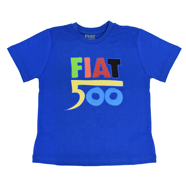 FIAT Nuova 500 T-Shirts for Kids(Blue)