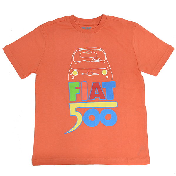 FIAT Nuova 500 T-Shirts for Kids(Orange)