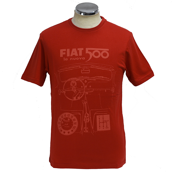 FIAT Nuova 500 T-Shirts(Red)