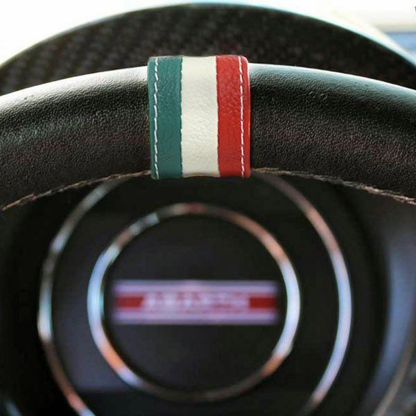 FIAT 500 Steering Leather Ring(Tricolor)<br><font size=-1 color=red>11/20到着</font>