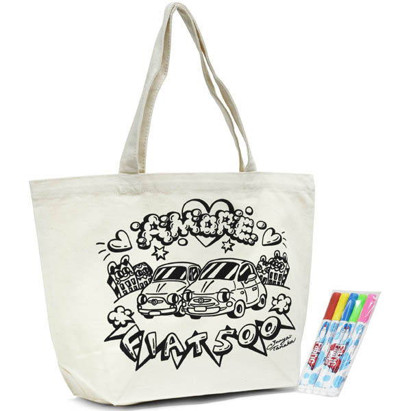 FIAT 500 coloring Tote Bag<br><font size=-1 color=red>09/02到着</font>