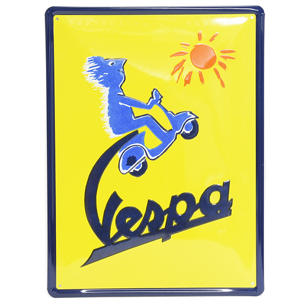 Vespa Official Display Plate(Square Shape/Vespa Sun)
