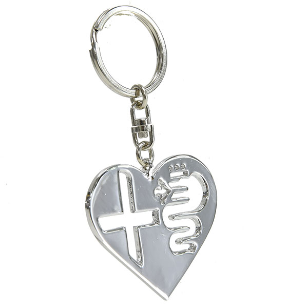 Alfa Romeo Heart Shaped Keyring