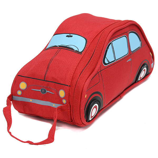 FIAT Nuova 500 Shaped Small Pouch(Red)