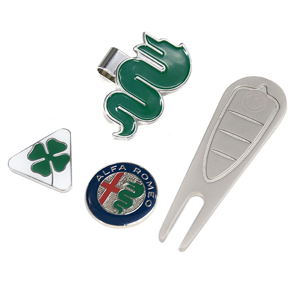 Alfa Romeo GOLF Clip Marker and Green Fork Set
