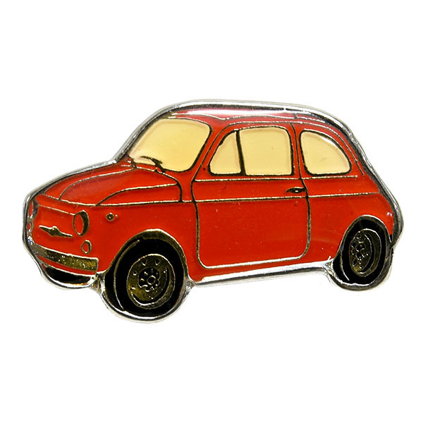 FIAT 500 CAR Shaped Pin Badge
