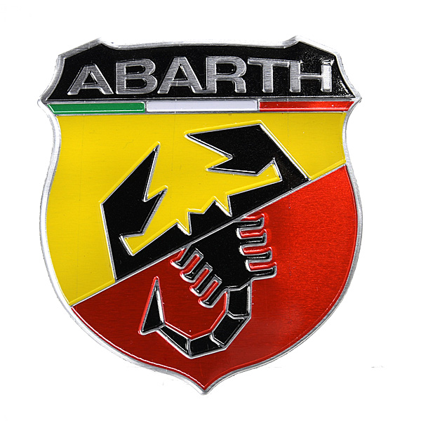 ABARTH Newエンブレムアルミプレート<br><font size=-1 color=red>01/13到着</font>