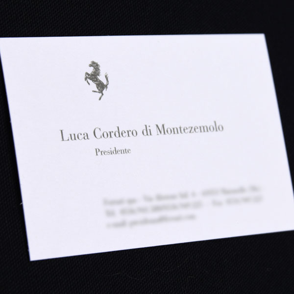 Luca montezemoro Business Card