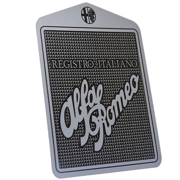 Registro Italiano Alfa Romeo Grill Shaped Sticker(Small)
