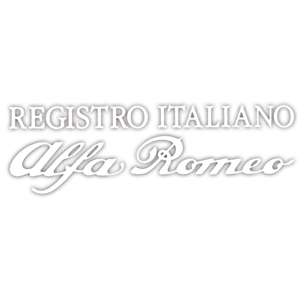 Registro Italiano Alfa Romeo Logo Sticker(Die Cut/White/Large)