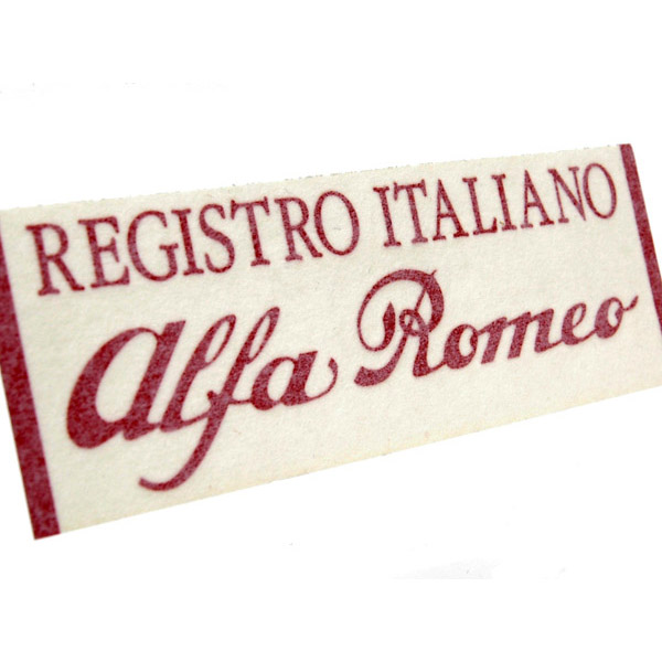 Registro Italiano Alfa Romeo Logo Sticker(Die Cut/Red/Large)