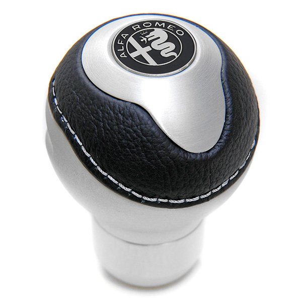 BLACK Gear Knob -TUNE IT- (Normal/Alfa Romeo Mono Tone Emblem)