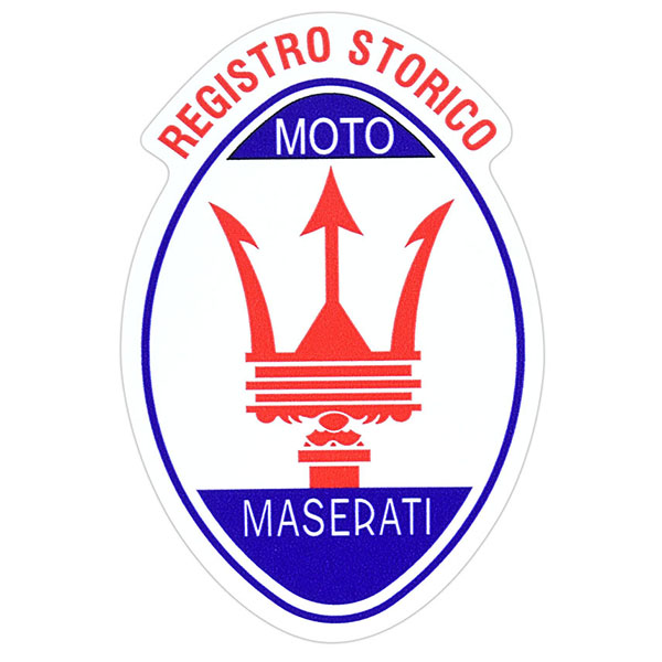 Registro Storico MOTO MASERATI Emblem Shaped Sticker