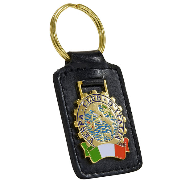 Vespa CLUB ITALIA Leather Base Keyring