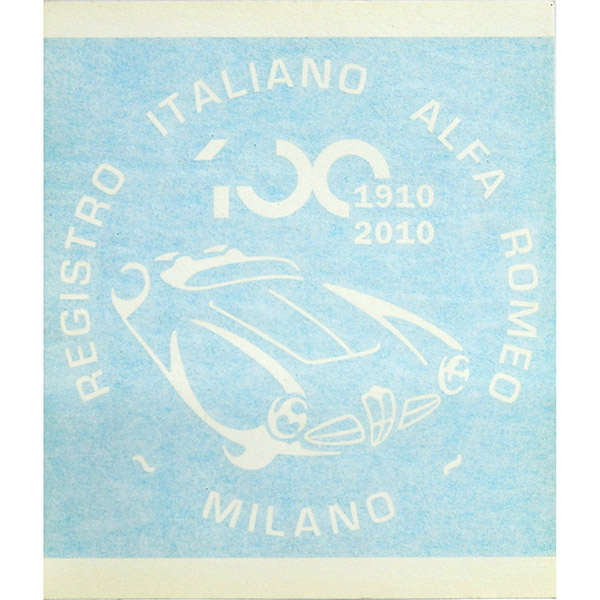 Alfa Romeo 100anni Memorial Sticker(White) by RIA(Registro Italiano Alfa Romeo)