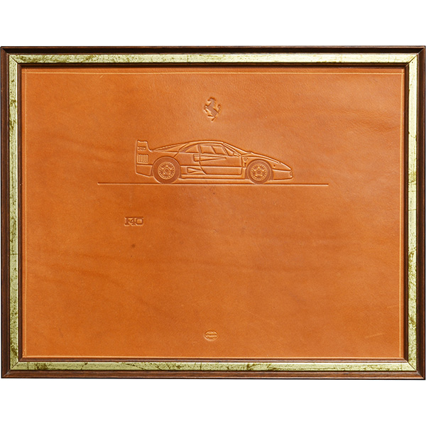 Ferrari F40 Leather relief with Frame by schedoni
