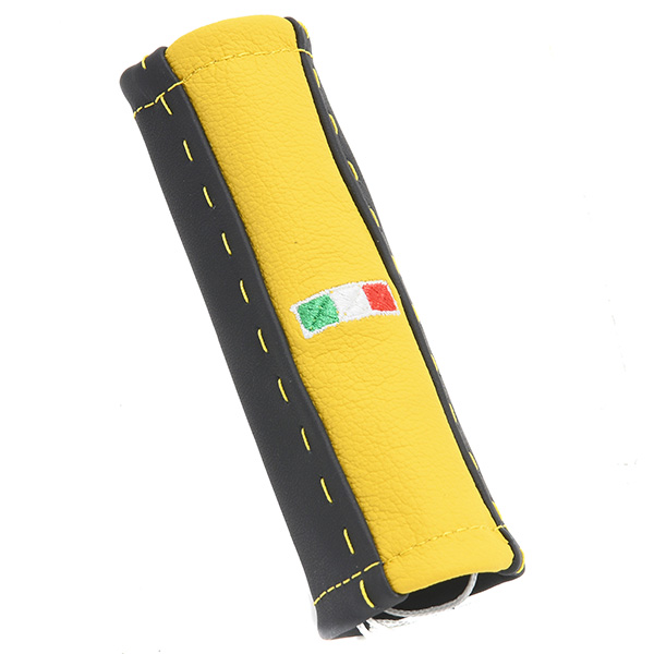 ABARTH/FIAT 500/595 Leather Hand Brake Grip Cover -SMOKING-(Black &amp; Yellow)<br><font size=-1 color=red>02/21到着</font>