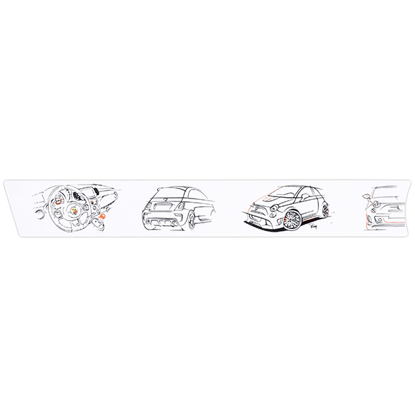 ABARTH 500/595 Instrument Panel Illustration Decor(for LHD/White)