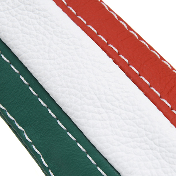 ABARTH/FIAT 500/595 Leather Hand Brake Grip Cover (Tricolor)