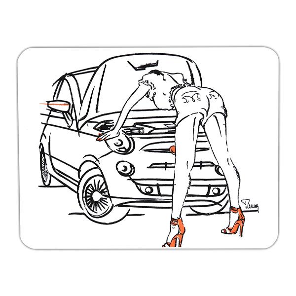 Fiat Illustrasion Stickergirl Italian Auto Parts Gagets