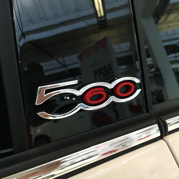 FIAT 500 60th Limited Edition B-Piller Logo Set