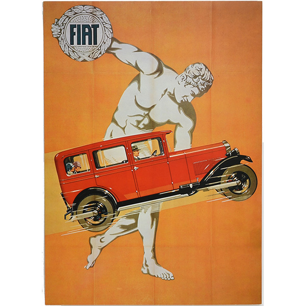 FIAT Vintage Poster Replica Type B