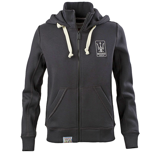 MASERATI Hooded Zip-up Felpa for women(Gray)