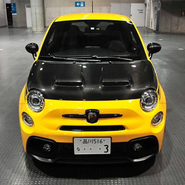 ABARTH 500/595/695カーボンボンネット by THREE HUNDRED