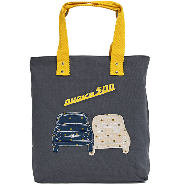 FIAT Nuova 500 Canvas Tote Bag(Gray)