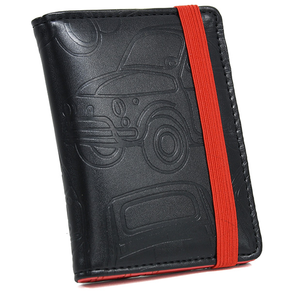 FIAT Nuova 500 Emboss Card Holder(Black)