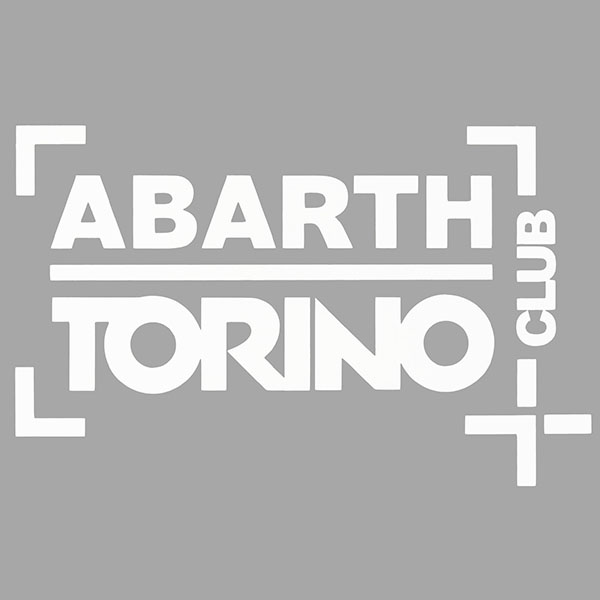 CLUB ABARTH TORINO Sticker(Die Cut/White)