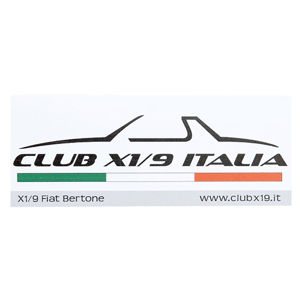 CLUB FIAT X1/9 ITALIA Sticker