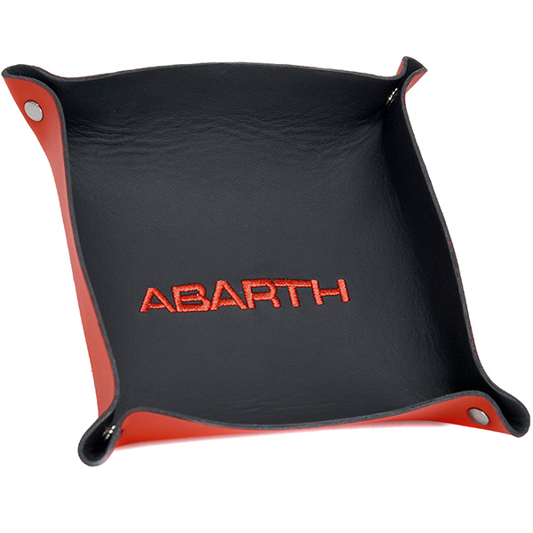 ABARTH Leather Tray(Black/red logo)