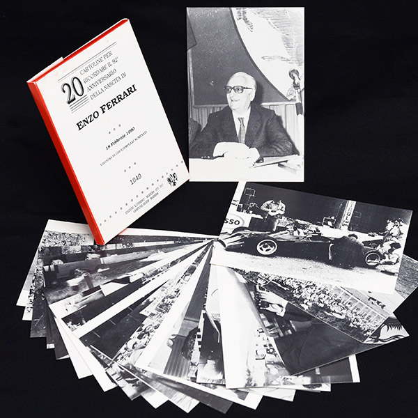 Enzo Ferrari 92 anni Memorial Post Card Set(20pcs.)