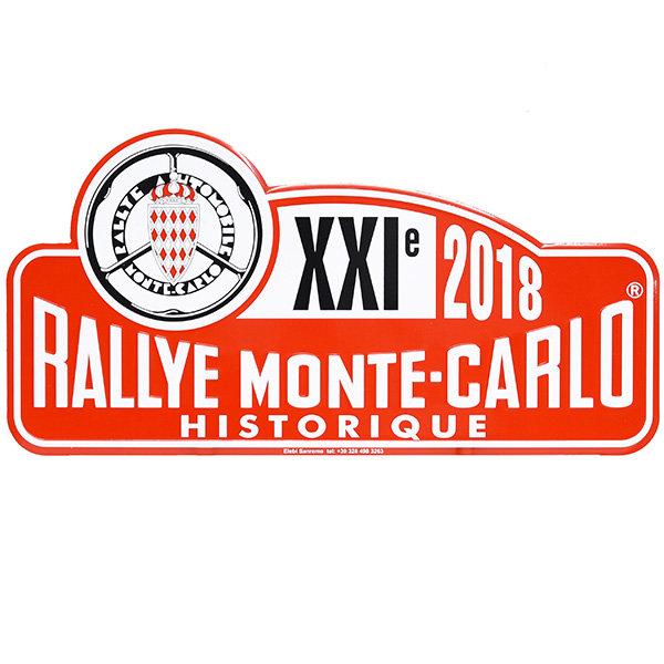 Rally Monte Carlo Historique2018 Official Metal Plate(Large)