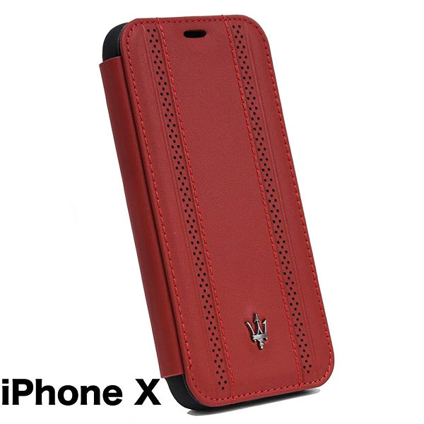 MASERATI iPhone X Book Shaped Case-GRANLUSSO/Red-