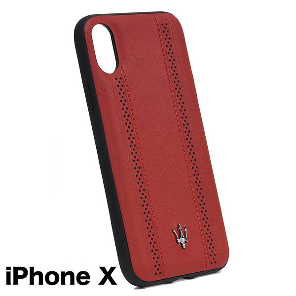 MASERATI iPhone X Case-GRANLUSSO/Red-